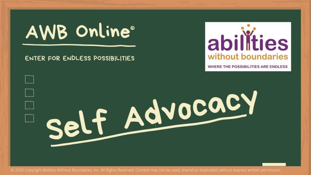 AWB Online Self Advocacy title