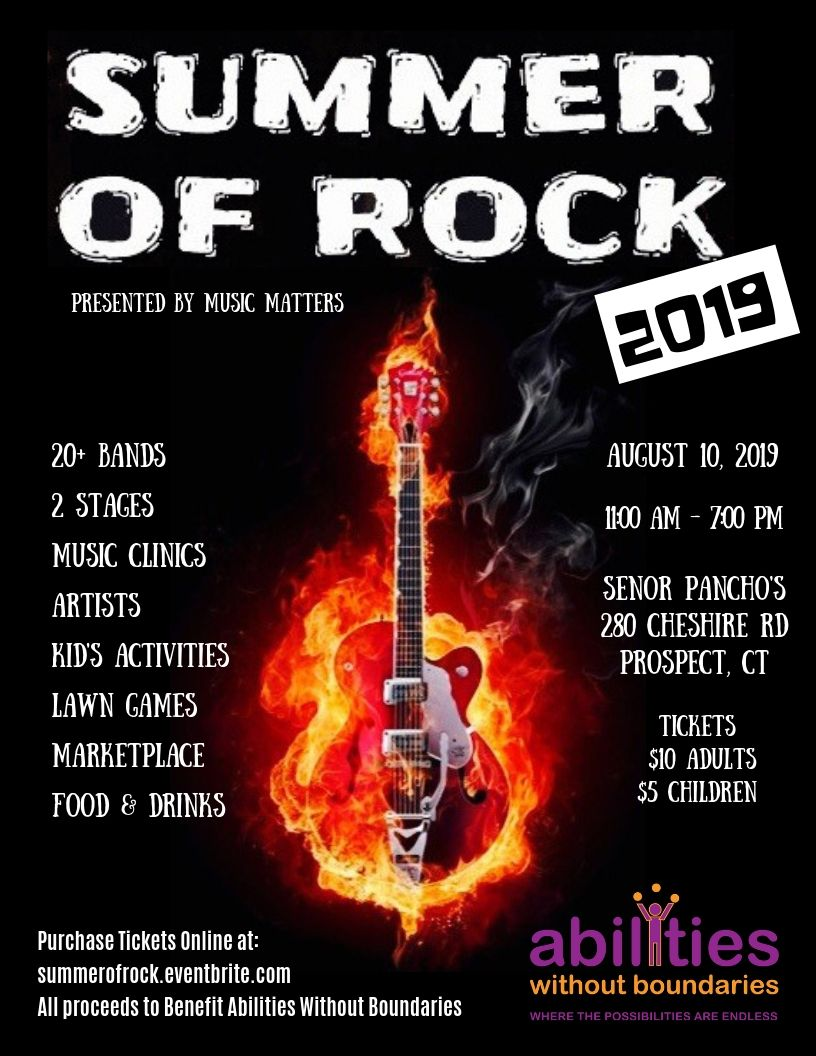 Summer of Rock Benefit Flyer August 10, 2019