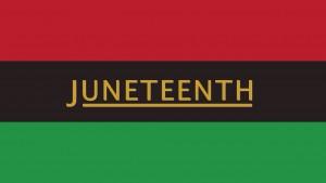 Junteenth flag